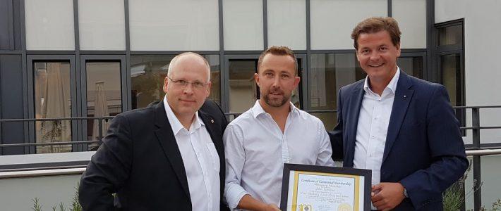 Lions Club Dresden New Century hat ein Ehrenmitglied