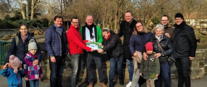 Spendenübergabe an den Dresdner Zoo und die MediClowns